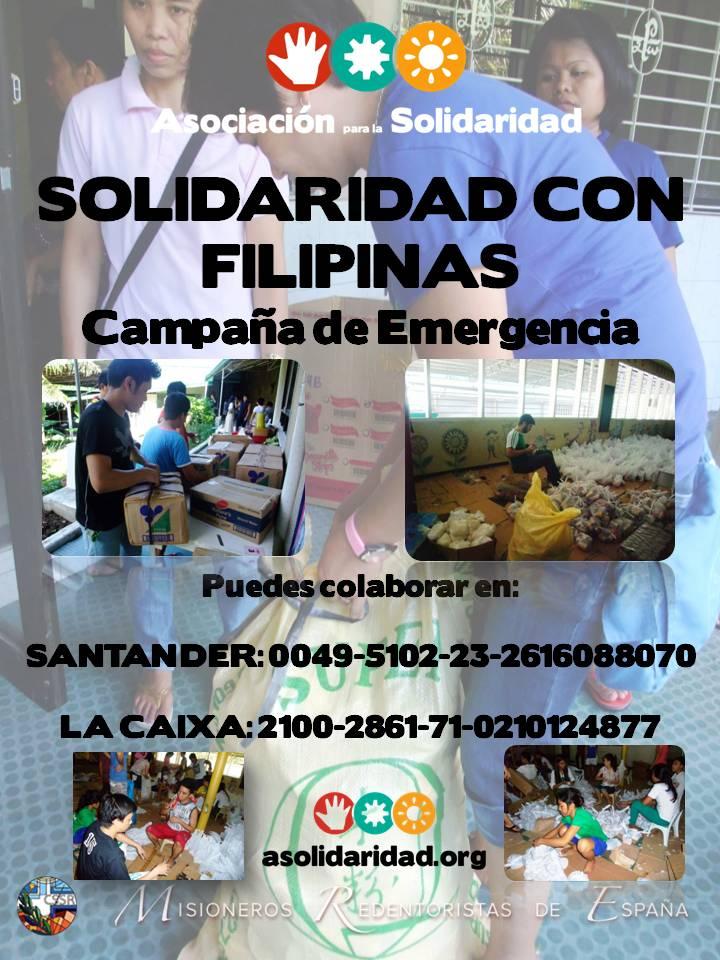 Campa a de emergencia filipinas parroquia santa teresa for Oficina 0049 banco santander