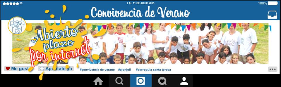Photo of Convivencia verano 2015 ¡NOVEDADES!