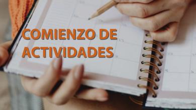 Photo of Comienzo de actividades